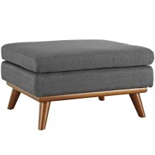 Engage Upholstered Fabric Ottoman in Gray