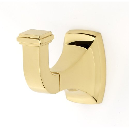 Cube Robe Hook A6580 - Polished Brass