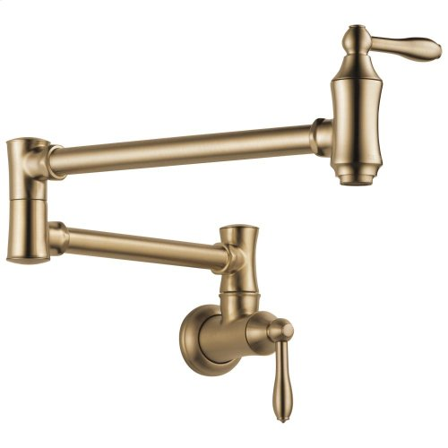 Champagne Bronze Traditional Wall Mount Pot Filler