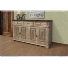 3Drawer, 4 Doors Console