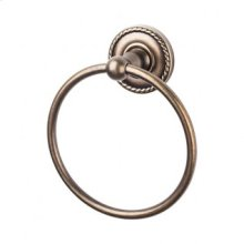 Edwardian Bath Ring Rope Backplate - German Bronze