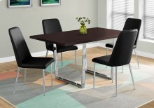 "DINING TABLE - 36""X 60"" / CAPPUCCINO / CHROME METAL"