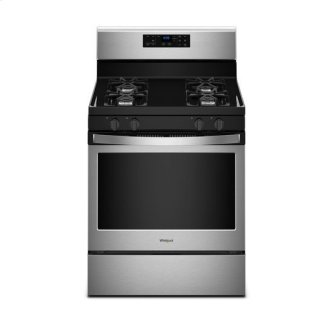 Whirlpool(R) 5.0 cu. ft. Freestanding Gas Range with Adjustable Self-Cleaning - Black-on-Stainless