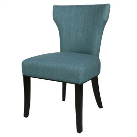 Dresden Fabric Chair Black Legs, Aegean