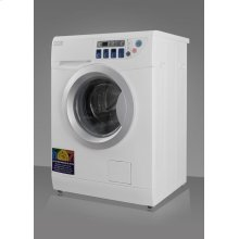 Combination washer/dryer with slim 24 inch width and 13 1/2 lb. capacity for non-vented use