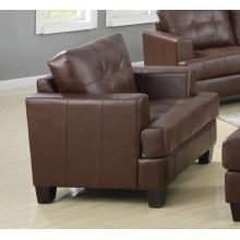 Samuel Transitional Dark Brown Chair
