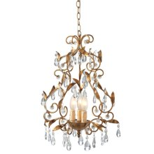 Gold Leaf Chandelier. 25W Max.
