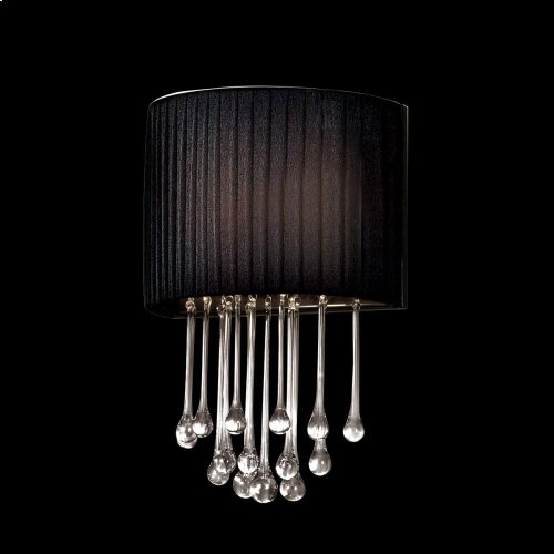 1-LIGHT WALL SCONCE - Black