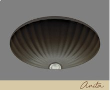 Anita - Fluted Shell Lavatory - Almond