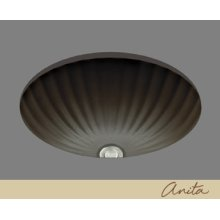Anita - Fluted Shell Lavatory - Almond