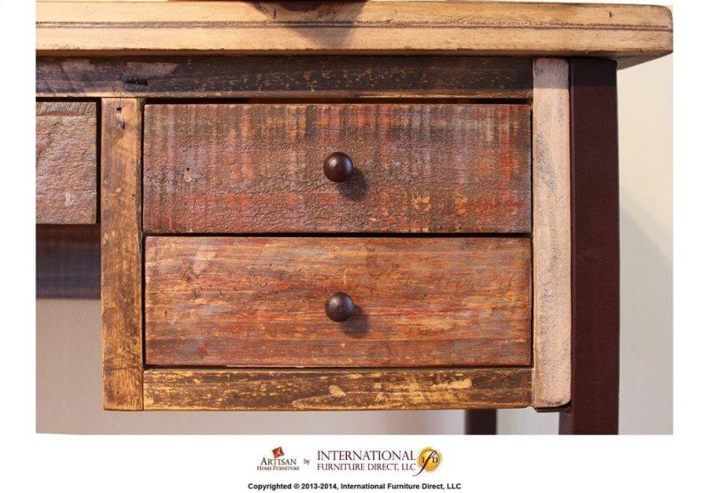 Additional Writing Desk Reclaimed Wood Finish