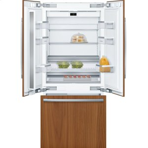 "BoschBENCHMARK SERIESBenchmark® Benchmark®, 36"" Built-in French Door Refrigeratorwith Home Connect, B36IT900NP, Custom Panel"