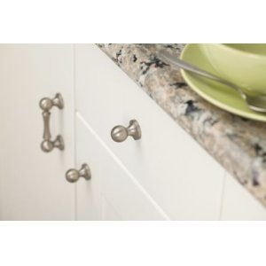 Waterhill brushed nickel drawer knob