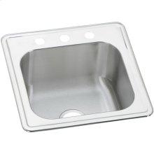 """Elkay Celebrity Stainless Steel 20"""" x 20"""" x 10-1/8"""", Single Bowl Drop-in Laundry Sink"""
