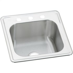 "Elkay Celebrity Stainless Steel 20"" x 20"" x 10-1/8"", Single Bowl Drop-in Laundry Sink"
