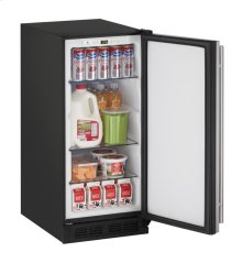"15"" Solid Door Refrigerator Stainless Solid Field Reversible"