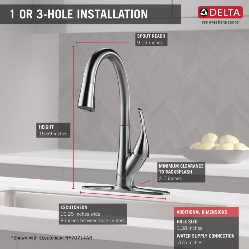 9181ARDST in Arctic Stainless by Delta Faucet Company in Atlanta, GA ...
