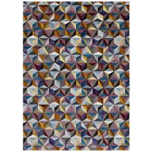 Arisa Geometric Hexagon Mosaic 4x6 Area Rug in Multicolored