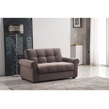 7576 Dark Brown Loveseat