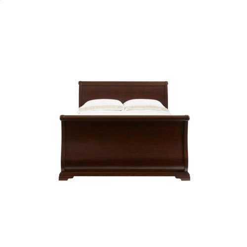 Teaberry Lane Midnight Cherry Queen Sleigh Bed