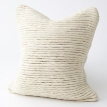 Straight Noodle Felt Pillow-Bone
