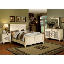 Coventry Two Tone - Queen Panel Footboard With Slats - Dover White Finish