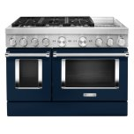 KitchenaidKitchenAid(R) 48'' Smart Commercial-Style Dual Fuel Range with Griddle - Ink Blue