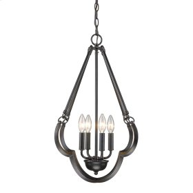 Smithsonian Saxon 4 Light Pendant in Aged Bronze