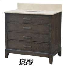 "Kensington 3 Drawer 36"" Vanity Sink"