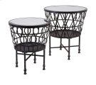Zaria Drum Mirror Accent Tables - Set of 2 Product Image