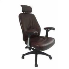 Contemporary Brown Faux Leather Office Chair
