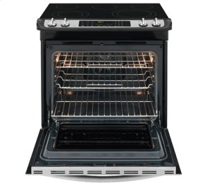 [CLEARANCE] 30'' Slide-In Electric Range. Clearance stock is sold on a first-come, first-served basis. Please call (717)299-5641 for product condition and availability.