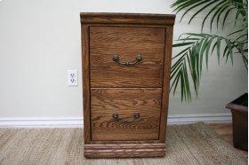 O-T178 Traditional Oak 2-Drawer Letter File Cabinet