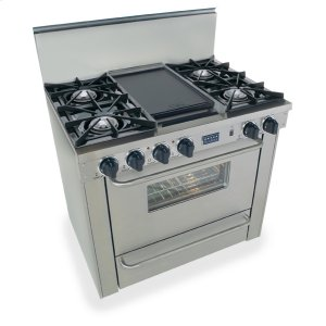 "Five Star36"" All Gas Range, Open Burners, Stainless Steel"