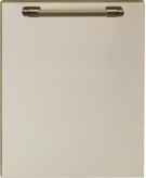Dishwasher panel with handle Cream matte, Bronze Product Image