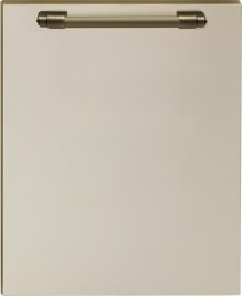 Dishwasher panel with handle Cream matte, Bronze