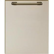 Dishwasher panel with handle Cream matte, Bronze