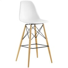 Pyramid Bar Stool in White