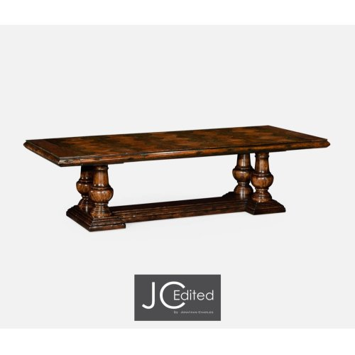 "110"" Rustic Walnut Dining Table"
