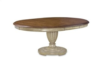 Provenance Round Table Base - Antique Linen Product Image