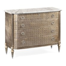 Silver Espresso Chest of Drawers
