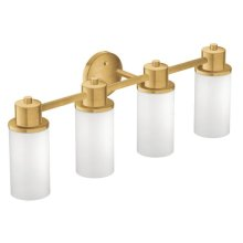 Iso brushed gold bath light