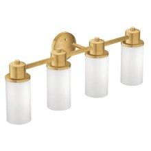 Iso brushed gold bath light