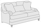 Tarleton Loveseat in Brandy (703) Product Image