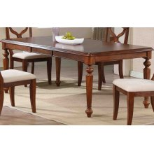 DLU-ADW4276-CT  Andrews Butterfly Leaf Dining Table  Chestnut Finish