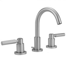 Polished Gold - Uptown Contempo Faucet with Round Escutcheons & High Lever Handles & Fully Polished & Plated Pop-Up Drain
