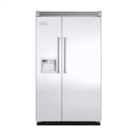 """White 48"""" Side-by-Side Refrigerator/Freezer with Dispenser - VISB (Integrated Installation)"""