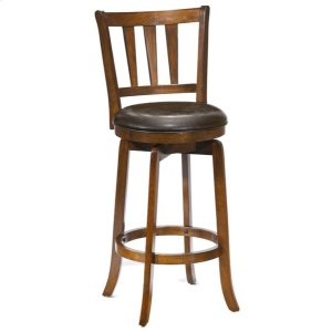 Hillsdale FurniturePresque Isle Swivel Barstool W/brown Vinyl