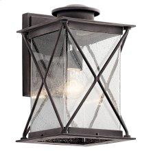"""Argyle 15"""" Wall Light with LED Bulb Weathered Zinc"""