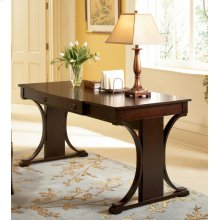 Transitional Red Brown Writing Desk